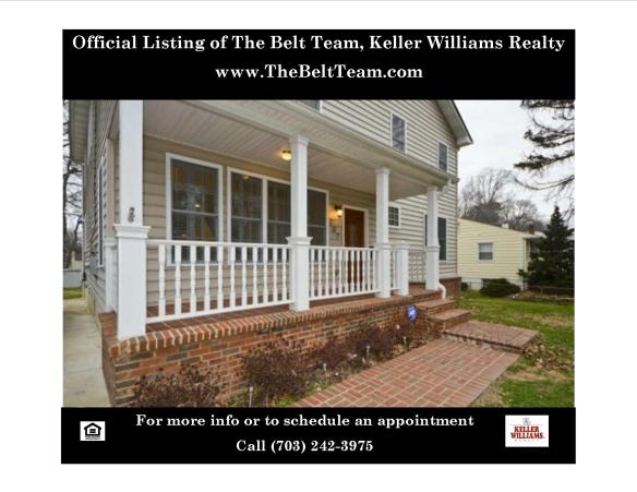 207 Elm Street SW Vienna VA 22180 Home Listed For Sale in Vienna By The Belt Team