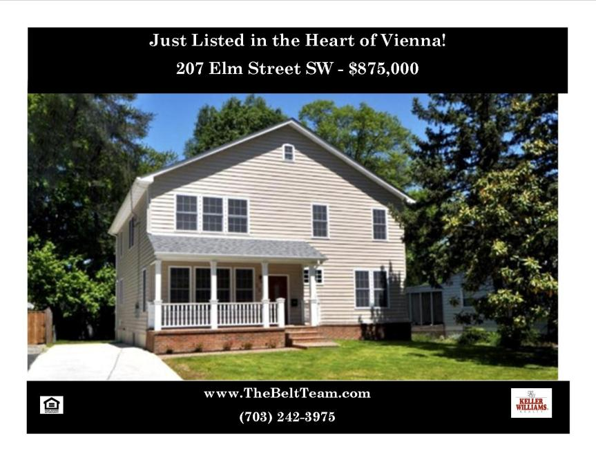 207 Elm Street SW Vienna VA 22180 Just Listed Home For Sale