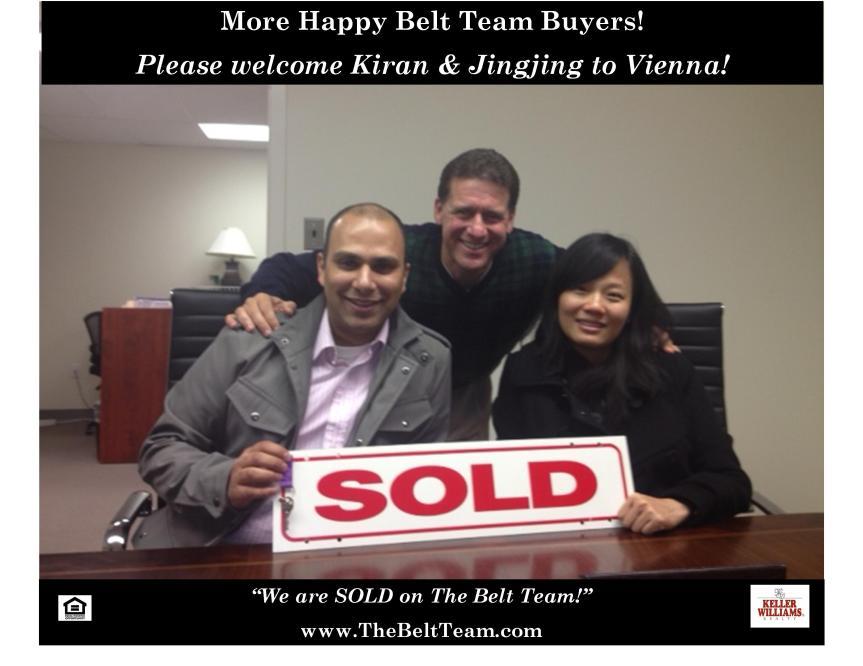 Happy Buyers of New Home in Vienna VA
