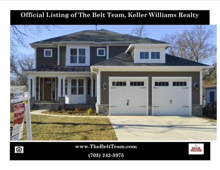 New Home For Sale Vienna VA Cottage St