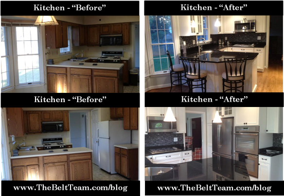 Vienna Kitchen Before and After Renovation by Dominion Associates Inc