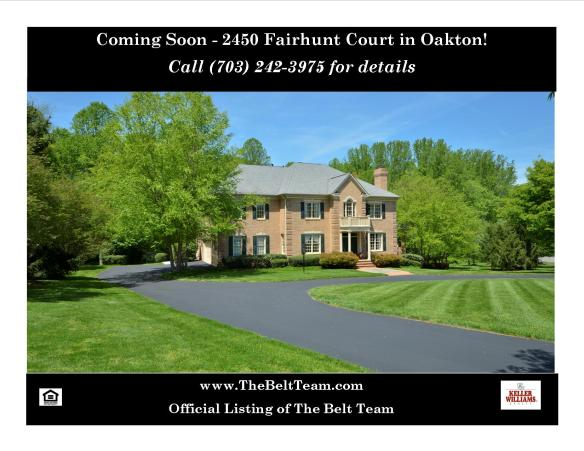Oakton Home Coming Soon 2450 Fairhunt Ct