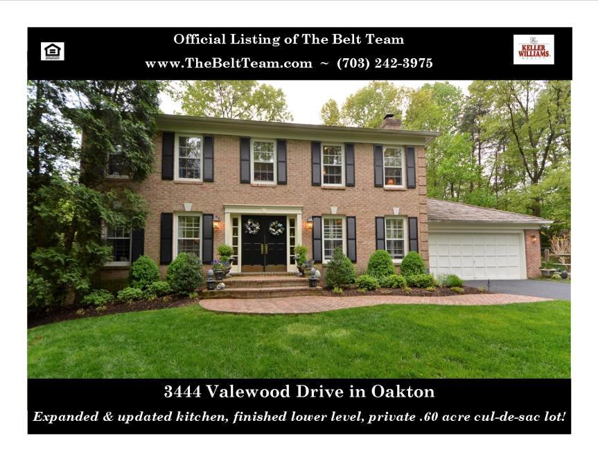 Culdesac Home In Oakton VA