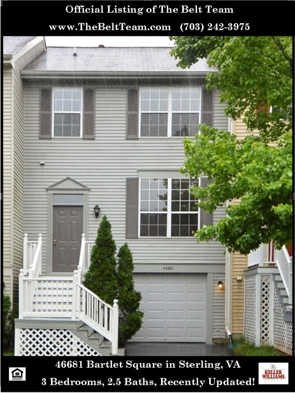 Updated townhouse in Woodstone Sterling VA