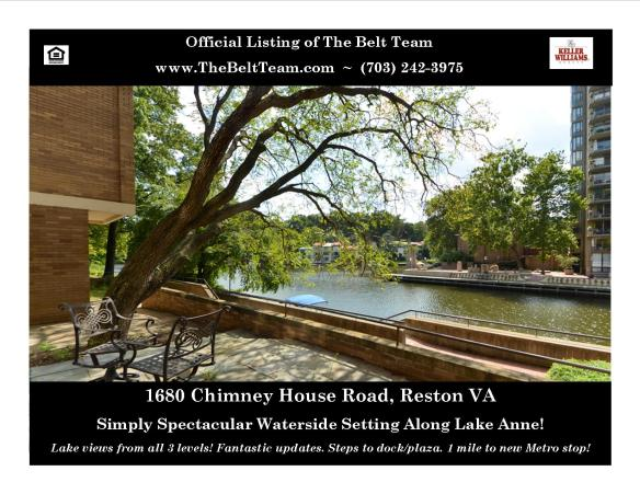 Home For Sale On Lake Anne Reston VA