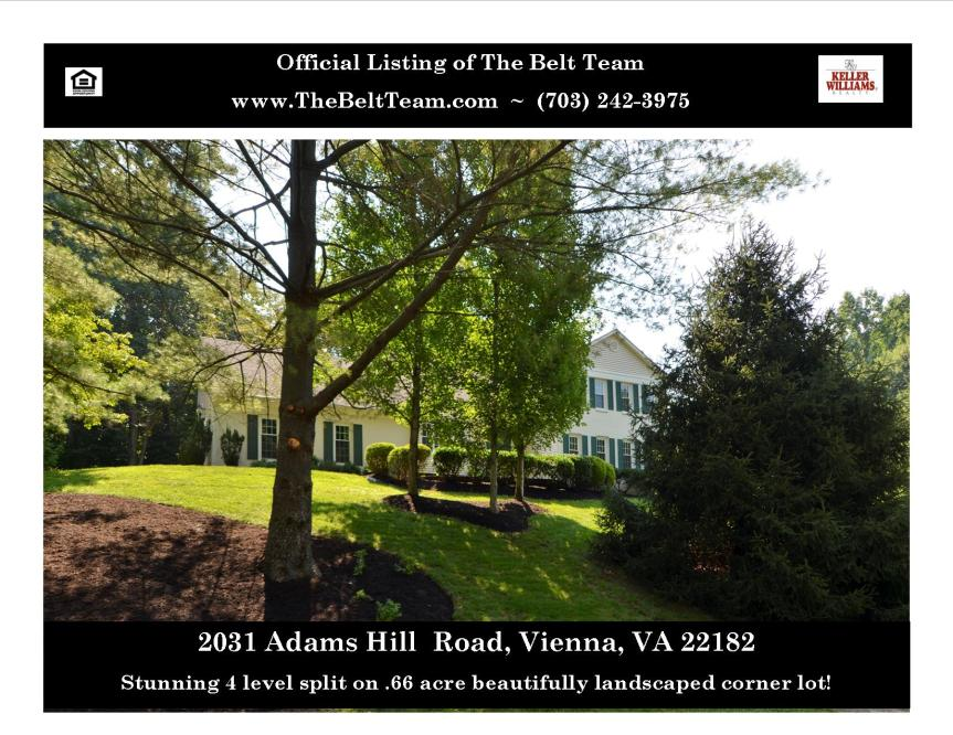 Half Acre Plus Lot In Vienna VA