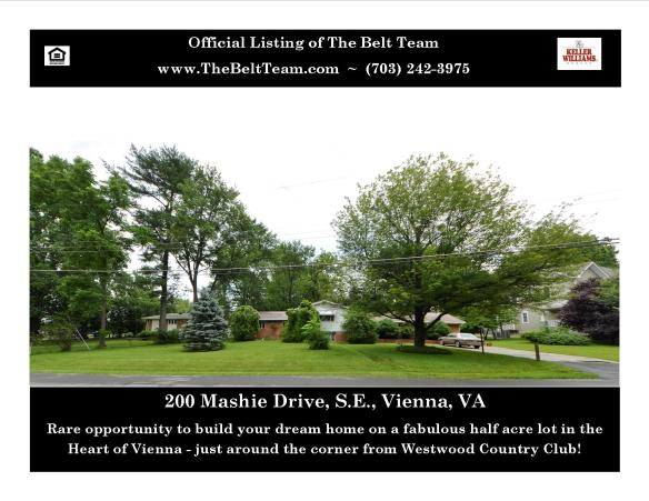 Half Acre Lot in Vienna VA