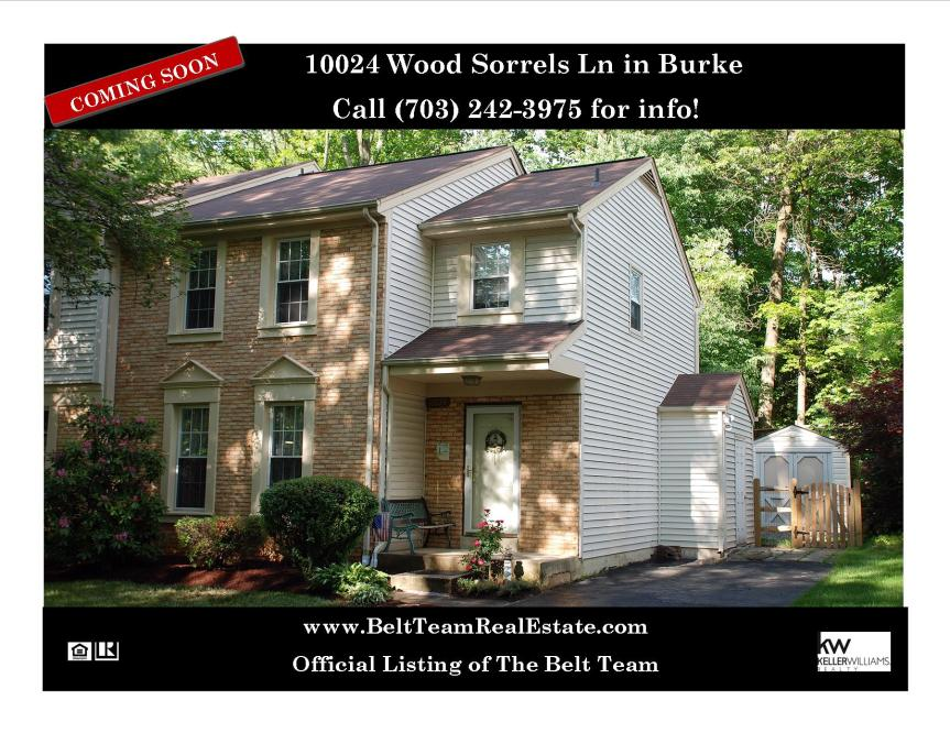 Coming Soon 10024 Wood Sorrels Ln Burke VA