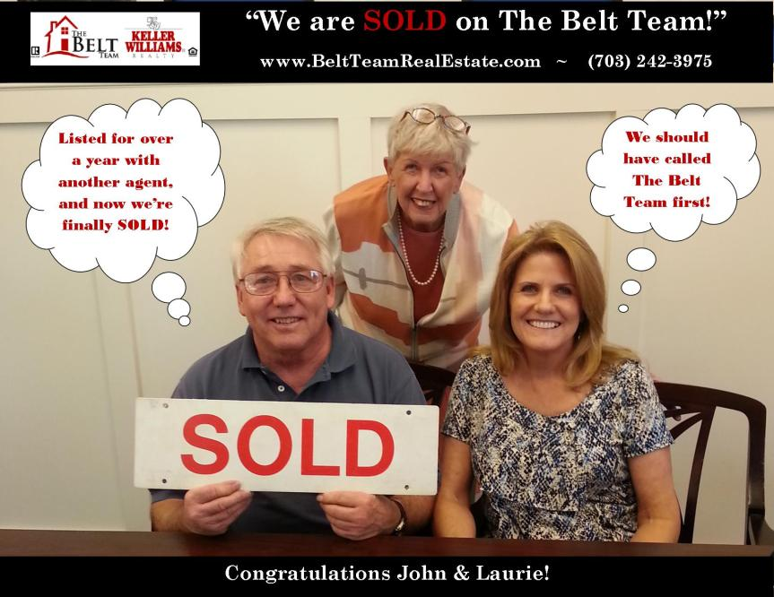 Happy Sellers John and Laurie Matarrazza