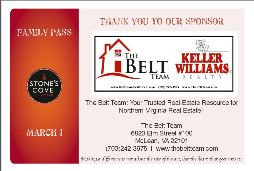 The Belt Team Sponsors Family Pass 2015